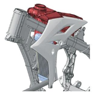 Rediseño de la cubierta hecha por Yamaha