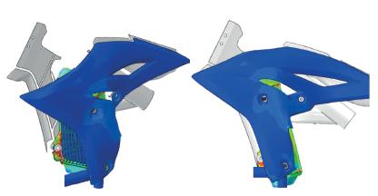 modelo integrado del ensamblaje con los radiadores