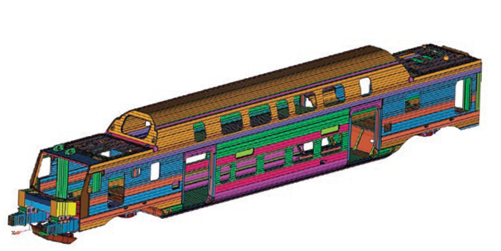 Finite Element Model of train car
