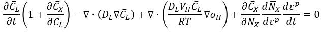 Fragilización por hidrógeno - Teorema de la divergencia final