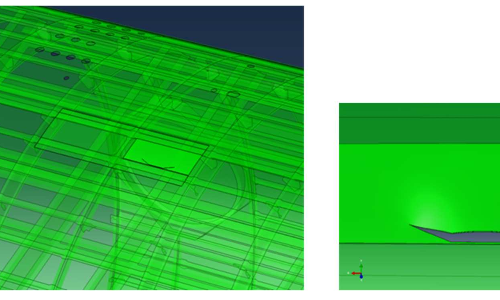 Crack growth simulation of a pressure vessel opening