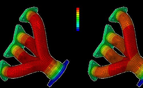 Análisis térmico por radiación mediante elementos finitos de un colector de escape